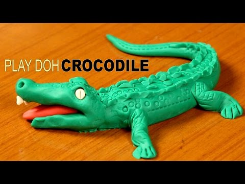 Play doh crocodile
