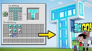 Minecraft: How to Build The Teen Titans Go! T-Tower! - Tutorial (EASY!)