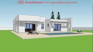 Modelo Bahia. Chalet de nueva construcción de diseño moderno en Alicante y Murcia.