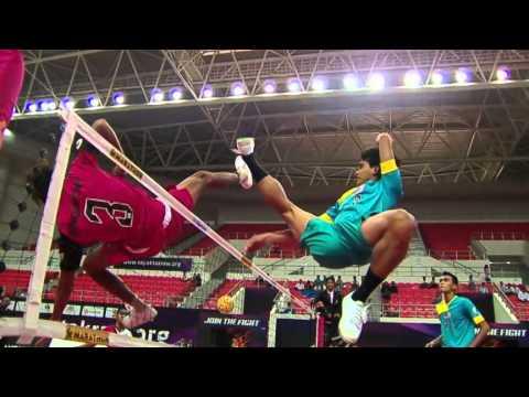 Sepaktakraw [iss Myanmar] - Malaysia Vs Singapore video