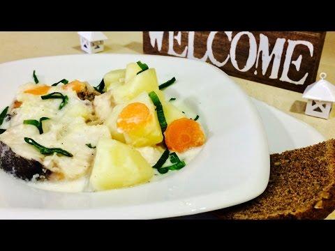 🍴МИНТАЙ С ОВОЩАМИ В СМЕТАНЕ🍴Fish stew with vegetables