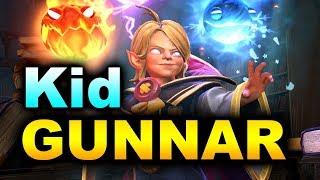 Kid INVOKER - First GAME Ever! by GUNNAR - Immortal MMR Dota 2