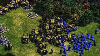 1 vs 3 Hardest AI teamed up, Age of Empires definitive edition
