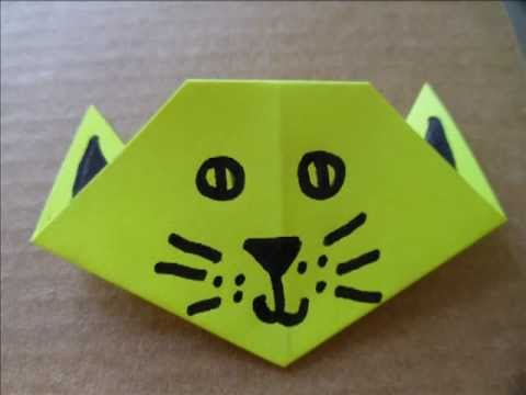 Cat Head Origami Origami Cat Head / Face