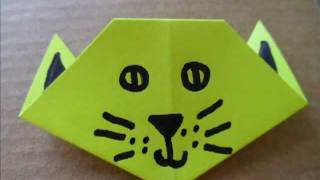 Origami Cat Head / Face - Halloween Crafts