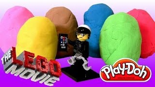Play Doh Lego the Movie Easter Eggs Surprise Toys 2014 Lego Friends Unboxing by DisneyCollector