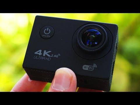 Экшн камера (4К) за 40$ Обзор и тест камеры из Китая!