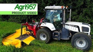 PANIC GRASS CUTTING: BM TRACTORS BETTER 180 REVERSE White Edition & BM TRACTORS 5,3 m MOWER in ITALY