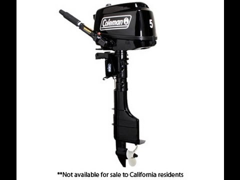 coleman 5hp outboard boat motor review part 1