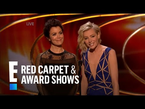 Bellamy Young and Portia de Rossi present at People's Choice Awards 2015