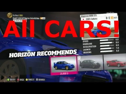 Forza Horizon Car List All Rally Expansion Pack Cars