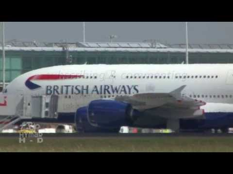British Airways Airbus A380 First Landing Arrival at London Stansted Airport
