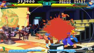 Marvel Super Heroes vs Street Fighter Ryu/Ken Playthrough 1/2