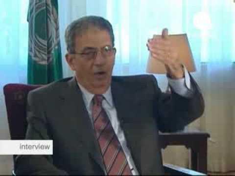 euronews - entrevista - Amr Moussa, secretario general de la Liga Arabe