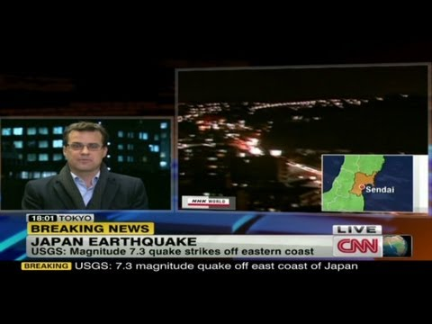Earthquake hits east coast of Japan
