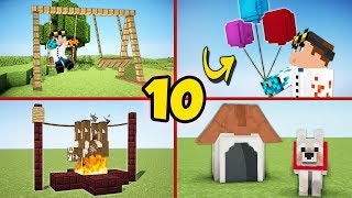 10 Secret Minecraft Builds You Can Build As well! - Tutorial #1