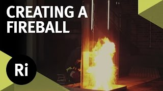 Creating a Fireball - Pouring Water on an Oil Fire