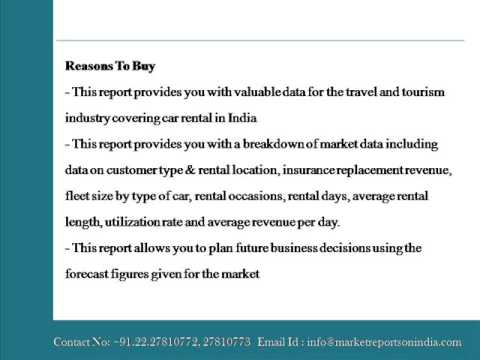 Car Rental in India to 2018 Market Databook