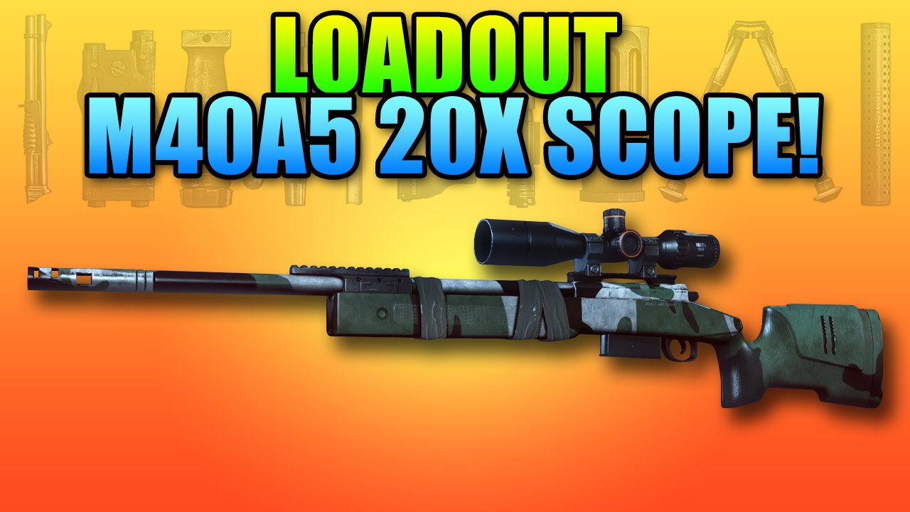 BF4 Loadout M40A5 Hunter 20x Scope Battlefield 4 Sniper