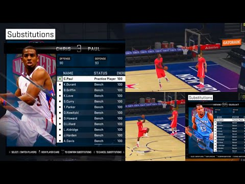 NBA 2K15 Kevin Durant and Chris Paul Shoot Around Gameplay