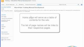 Introduction To Wiki Libraries in SharePoint 2010