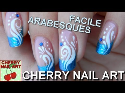 Tuto nail art facile - french et arabesques (HD)