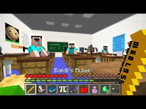 HOW TO PLAY as BALDI BASICS in MINECRAFT!