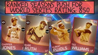 RANKED SEASONS! PUSH FOR WORLD SERIES! 850 RATING MLB THE SHOW 18