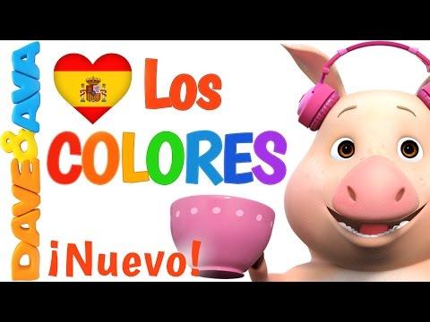 🌈 Сanciones Infantiles   La Canción de los Colores  Canciones Infantiles en Español de Dave y Ava 🌈