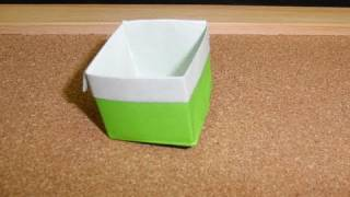 Daily Origami:  077 - Box With Color Band