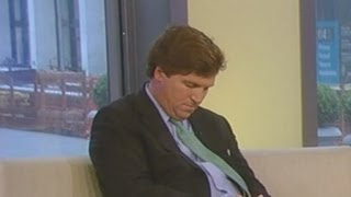 Tucker Carlson Falls Asleep Live on Fox News