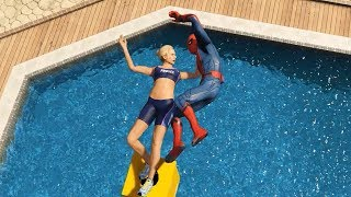 GTA 5 Water Ragdolls   SPIDERMAN Jumps/Fails #20 (Euphoria physics   Funny Moments)