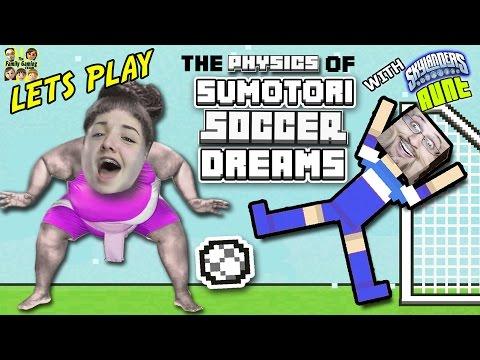 Duddy vs. His Sister! SUMOTORI DREAMS & SOCCER PHYSICS! w/ Skylander Aunt (FGTEEV Fun!)