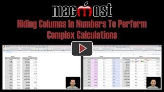 Hiding Columns In Numbers To Perform Complex Calculations (MacMost #1806)