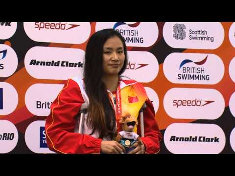 Women's 100m Backstroke S7 | Victory Ceremony | 2015 IPC Swimming World Championships Glasgow