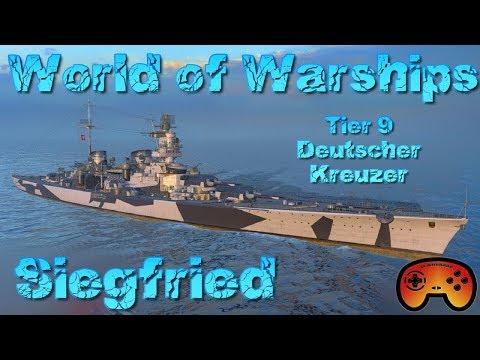 Siegfried im Hafen!!! T9 Schlachtkreuzer in World of Warships auf Deutsch/German