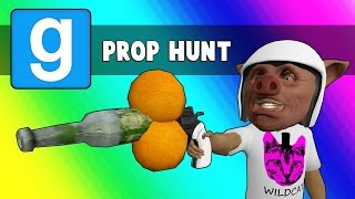 Gmod Prop Hunt Funny Moments - 2 Oranges + Bottle = Win (Garry's Mod Little Hunter Edition)