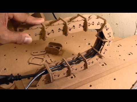 Testing DIY cable carrier for CNC router