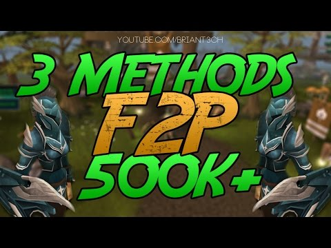 Runescape 3 F2p (3 Methods) 500k+ p/h / Money Making Guide 2015 RS3 Commentary