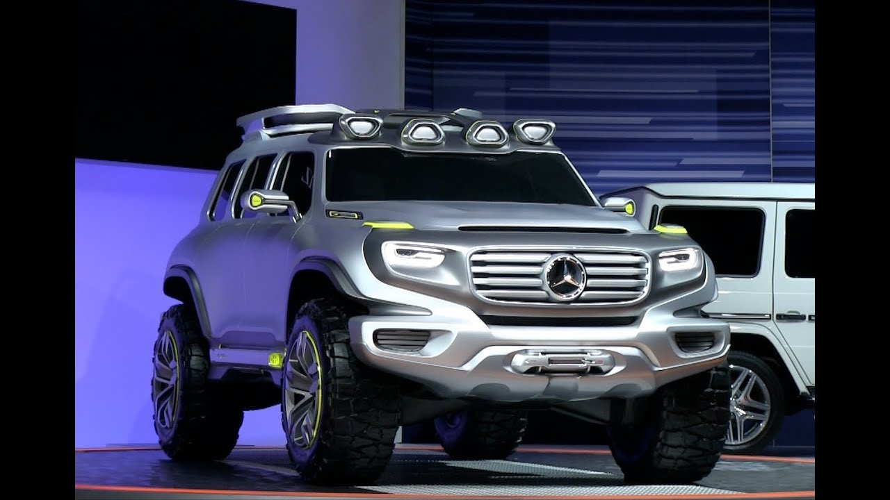 Mercedes benz ener g force concept crushes the stand at for Mercedes benz that looks like a jeep