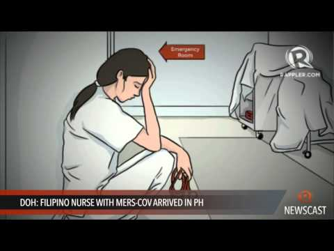 DOH  Filipino nurse with MERS CoV arrived in PH