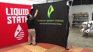 Tension Fabric Display or Fabric Pop-up Displays