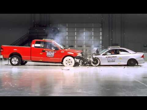 Ford F150 And Honda Civic Frontal Crash Test By Iihs Youtube
