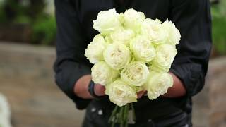 DIY Modern White Floral Arrangement