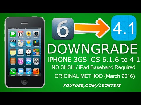 How to downgrade iPhone 3GS from iOS 6.1.6 to 4.1 - No blobs, No iPad Baseband - With Carrier
