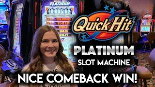 NICE Comeback! Quick Hit Platinum Slot Machine! Picked the 25 Free Games!