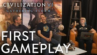 Civilization VI: Gathering Storm - FIRST GAMEPLAY (MESSAGE FROM SID MEIER)