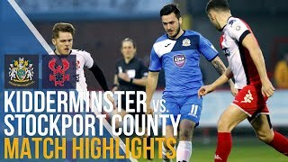 Kidderminster Harriers Vs Stockport County - Match Highlights - 10.04.2018