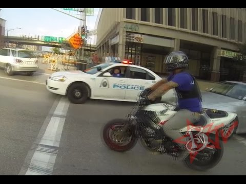 Bike Vs Police Chase Motorcycle Stunts Running From The Cops Riding Wheelies Blox Starz TV