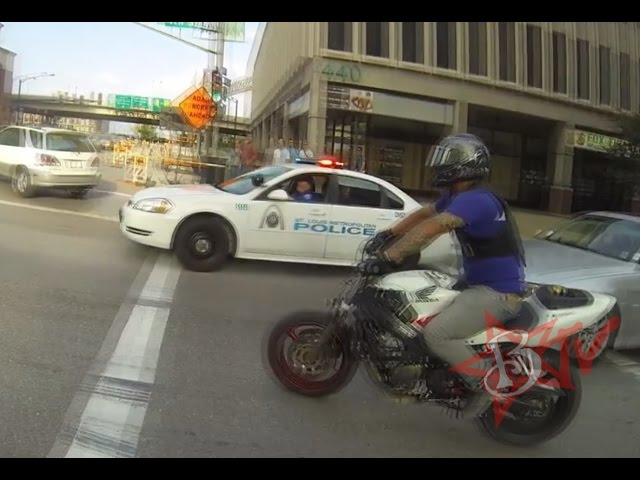 Bike Vs Police CHASE Motorcycle Stunts RUNNING From The Cops Riding WHEELIES Cop CHASES
